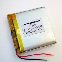 Аккумулятор Li-pol 855050 3.7V 2400mAh PCB