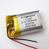 Аккумулятор Li-pol 902030 3.7V 500mAh PCB 15W